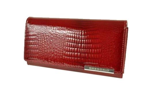 c0957d2736c39 Portfel skórzany lakier Gregorio GF 100 - GF 100 red - DAMSKIE ...