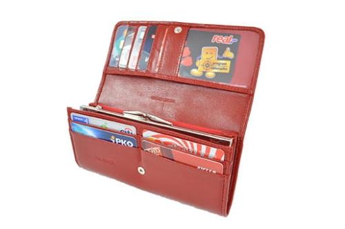 82c70c1693b56 Portfel damski skórzany Andrus 412 - 412 czerwony - DAMSKIE ...