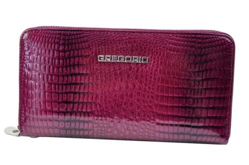 539beafe67ed4 Portfel skórzany lakier Gregorio GF 119 - GF 119 berry - DAMSKIE ...